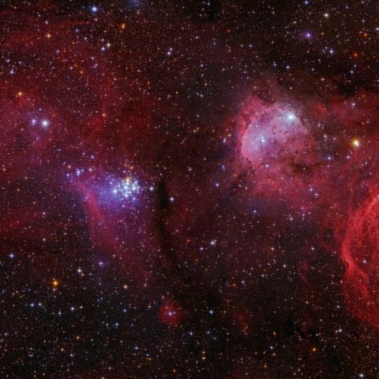 NGC3293 - Ékkő-halmaz / NGC3324 - Gabriela Mistral-köd