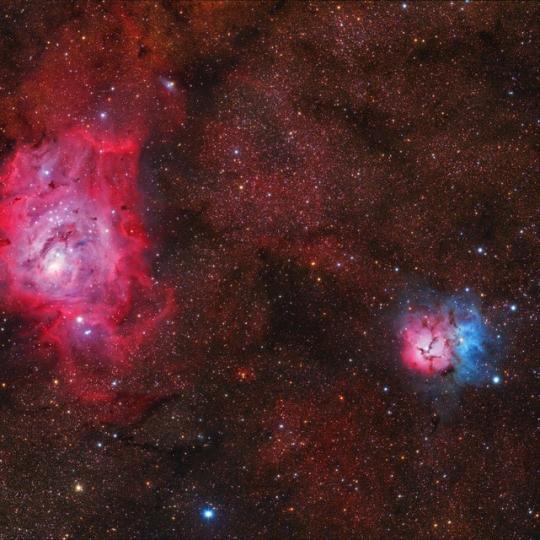 M8, M20 - Lagúna és Trifid-köd